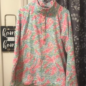 Large Lilly Pulitzer Lobstah Roll Popover